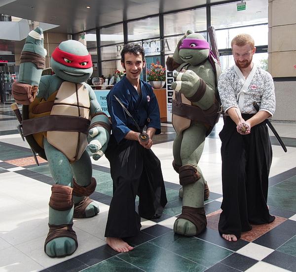ninja turtles żółwie kobudo chanbara