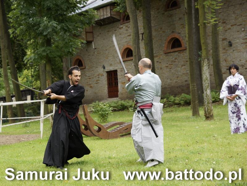 kenjutsu na dworze w terenie