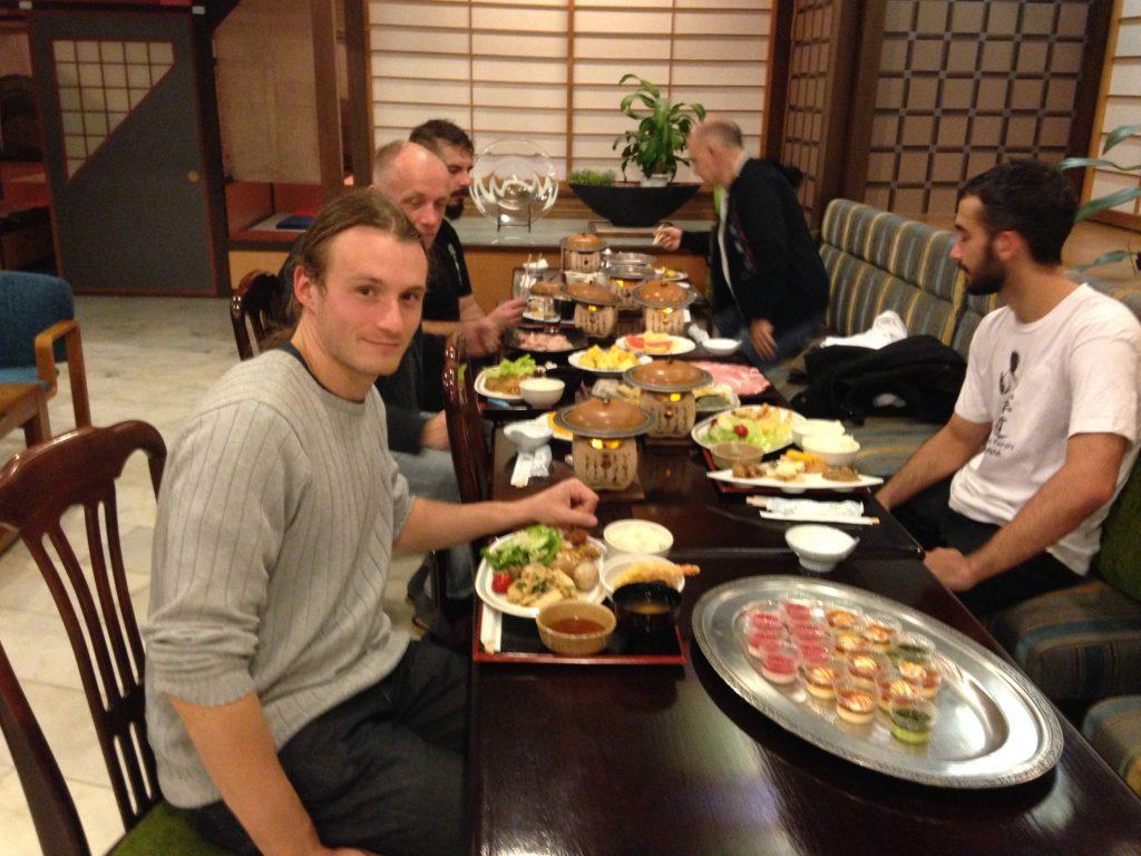 kolacja w ryokan Nikko wyprawa samurajów