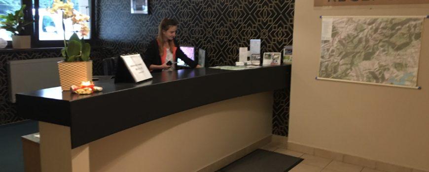 recepcja hotelu Granica